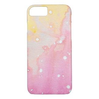 Capa iPhone 8/ 7 Caixa cor-de-rosa do Watercolour do Splatter