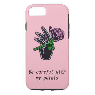 Capa iPhone 8/ 7 Caixa cor-de-rosa estètica de satisfação do iPhone
