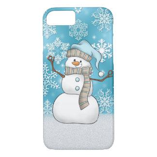 Capa iPhone 8/ 7 Caixa do boneco de neve 8/7 da aguarela do Natal