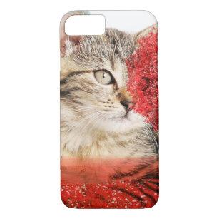 Capa iPhone 8/ 7 caixa do móbil do gato de gato malhado