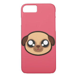 Capa iPhone 8/ 7 Caixa engraçada da maçã do cão de Kawaii para