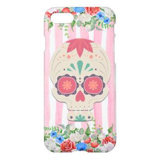 Capa iPhone 8/7 Caixa floral do crânio do açúcar