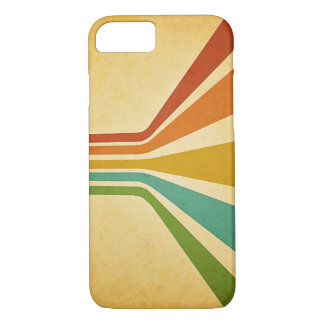 Capa iPhone 8/ 7 Caixa Groovy das listras do vintage