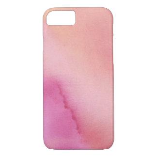 Capa iPhone 8/ 7 Caixa marmoreada por do sol do Watercolour