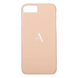 Capa iPhone 8/ 7 Caixa Pastel feminino do iPhone 7 do abricó com