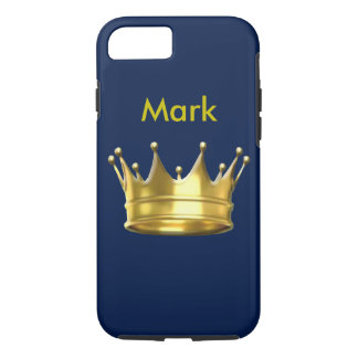 Capa iPhone 8/ 7 Caixa personalizada do iPhone 7 do príncipe Coroa