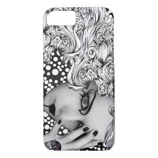 Capa iPhone 8/ 7 Caixa pontilhada do telemóvel da mulher e da