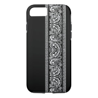 Capa iPhone 8/ 7 Caixa preta do iPhone 7 do Bandana de Paisley