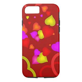 Capa iPhone 8/ 7 Caixa protetora do telemóvel dos corações