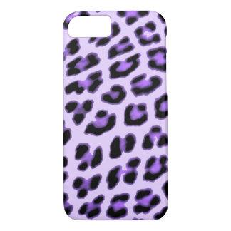 Capa iPhone 8/ 7 Caixa roxa do impressão do leopardo