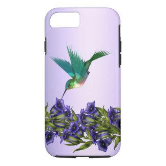 Capa iPhone 8/ 7 Caixa roxa do iPhone 7 do colibri das violetas