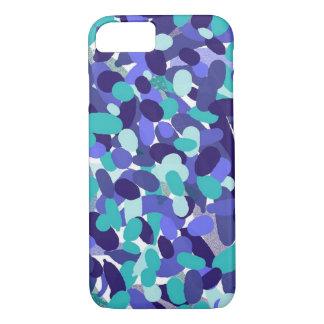 Capa iPhone 8/ 7 Caixa Splashy azul do telemóvel dos pontos