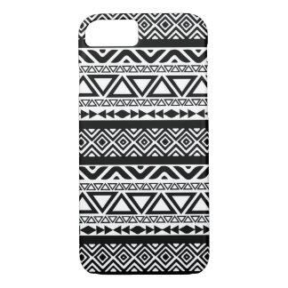 Capa iPhone 8/ 7 Caixa tribal asteca branca preta do iPhone 7 do