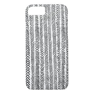 Capa iPhone 8/ 7 Caixa tribal branca preta do iPhone 7 do teste
