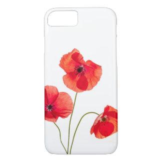 Capa iPhone 8/ 7 Caixa vermelha de Iphone 7 da flor da papoila