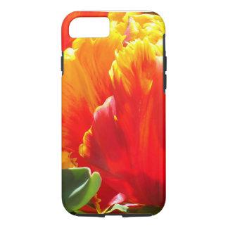Capa iPhone 8/ 7 Caixa vermelha do iPhone 7 da tulipa do papagaio