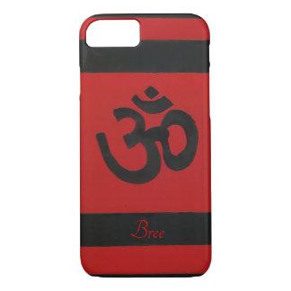 Capa iPhone 8/ 7 Caixa vermelha sânscrito personalizada do preto