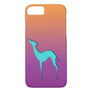 Capa iPhone 8/ 7 Caixa violeta alaranjada azul do iPhone 7 do