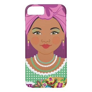 Capa iPhone 8/ 7 Caixa violeta cubana de Matryoshka