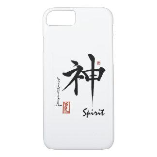 Capa iPhone 8/ 7 Caligrafia chinesa japonesa do ESPÍRITO do símbolo