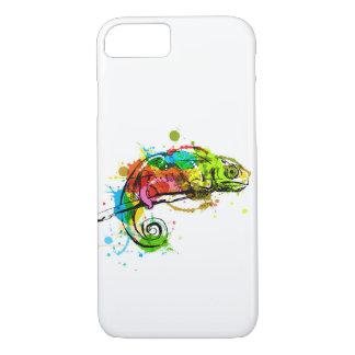 Capa iPhone 8/ 7 Camaleão colorido do esboço da mão