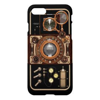 Capa iPhone 8/7 Câmera preta à moda retro do vintage de Steampunk