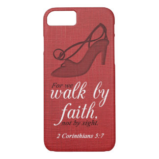 Capa iPhone 8/ 7 Caminhada por citações do verso da bíblia do 5:7