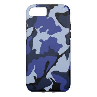Capa iPhone 8/ 7 Camo azul, caso resistente do iPhone 7