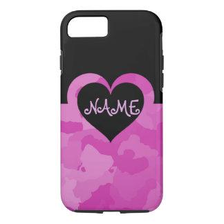 Capa iPhone 8/ 7 Camo cor-de-rosa customizável