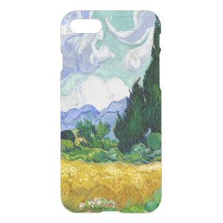 Capa iPhone 8/7 Campo de trigo com os ciprestes por belas artes de