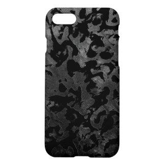 Capa iPhone 8/7 Camuflagem cinzenta preta e escura de Camo moderno
