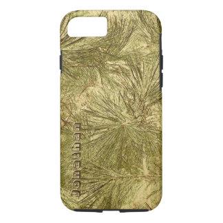 Capa iPhone 8/ 7 camuflagem verde abstrata legal das agulhas