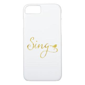 Capa iPhone 8/ 7 Cante a brilho do falso do ouro do pássaro da