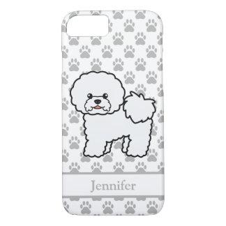 Capa iPhone 8/ 7 Cão bonito dos desenhos animados de Bichon Frise &