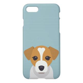 Capa iPhone 8/7 Cão bonito no fundo ciano