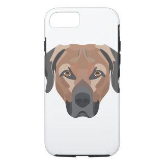 Capa iPhone 8/ 7 Cão Brown Labrador da ilustração