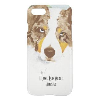 Capa iPhone 8/7 Cão de pastor australiano vermelho de Merle