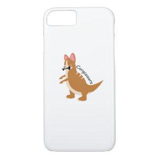 Capa iPhone 8/ 7 Cão do amor de T-Rex Corgisaurs dos dinossauros do