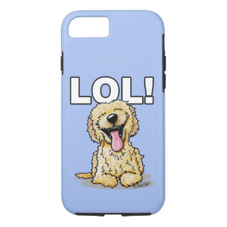 Capa iPhone 8/ 7 Cão LOL do Doodle de KiniArt