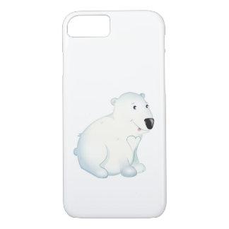 """Capa iPhone 8/ 7 """"Capa de telefone do urso polar do selo pequeno do"""