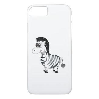 "Capa iPhone 8/ 7 ""Capas de iphone da zebra do selo pequeno do amor"