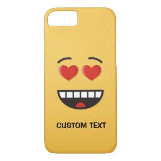 Capa iPhone 8/ 7 Cara de sorriso com olhos Coração-Dados forma