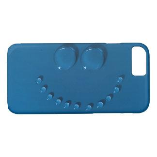Capa iPhone 8/ 7 Cara de sorriso feita dos waterdrops em um azul