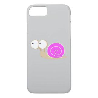 Capa iPhone 8/ 7 Caracol descascado rosa
