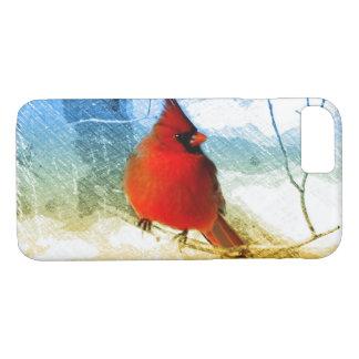 Capa iPhone 8/ 7 Cardeal vermelho do Natal primitivo do país