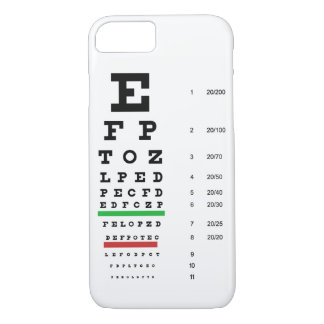Capa iPhone 8/ 7 carta da visão do olho de Snellen para o