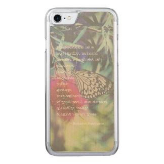 Capa iPhone 8/ 7 Carved A felicidade é uma borboleta - citações de
