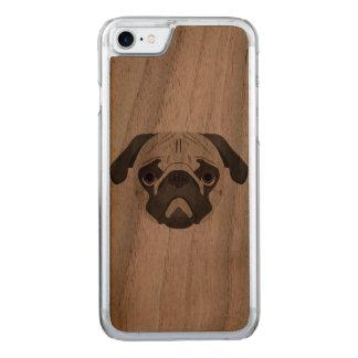 Capa iPhone 8/ 7 Carved A ilustração persegue o Pug da cara