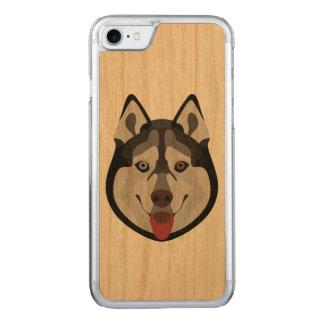 Capa iPhone 8/ 7 Carved A ilustração persegue o rouco Siberian da cara