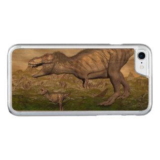 Capa iPhone 8/ 7 Carved A mãe do dinossauro do rex do tiranossauro e o